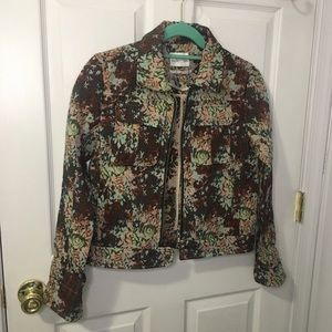 FIRM. UO Floral Jean Jacket